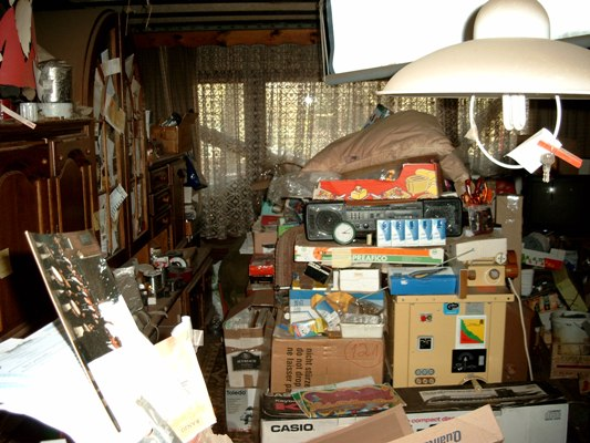 Image of a room full of stuff - Example of Hoarding