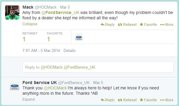 Ford Tweet
