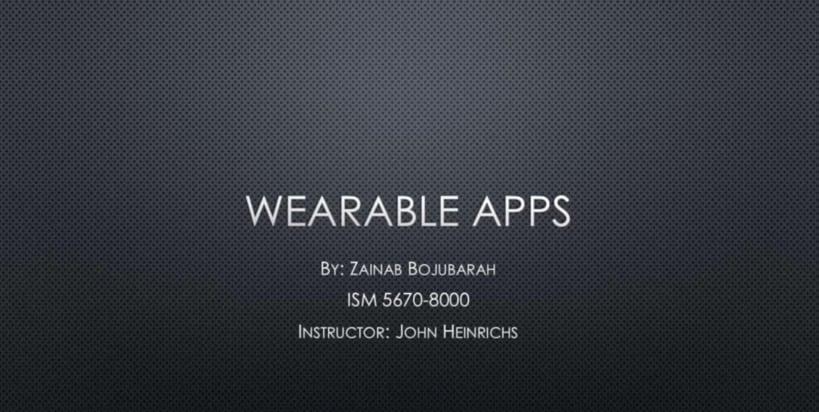 Wearable Apps
