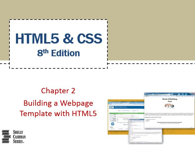 Chapter 2: Building a Webpage Template with HTML5 - Part 1