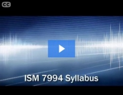 ISM 7994 Course Syllabus