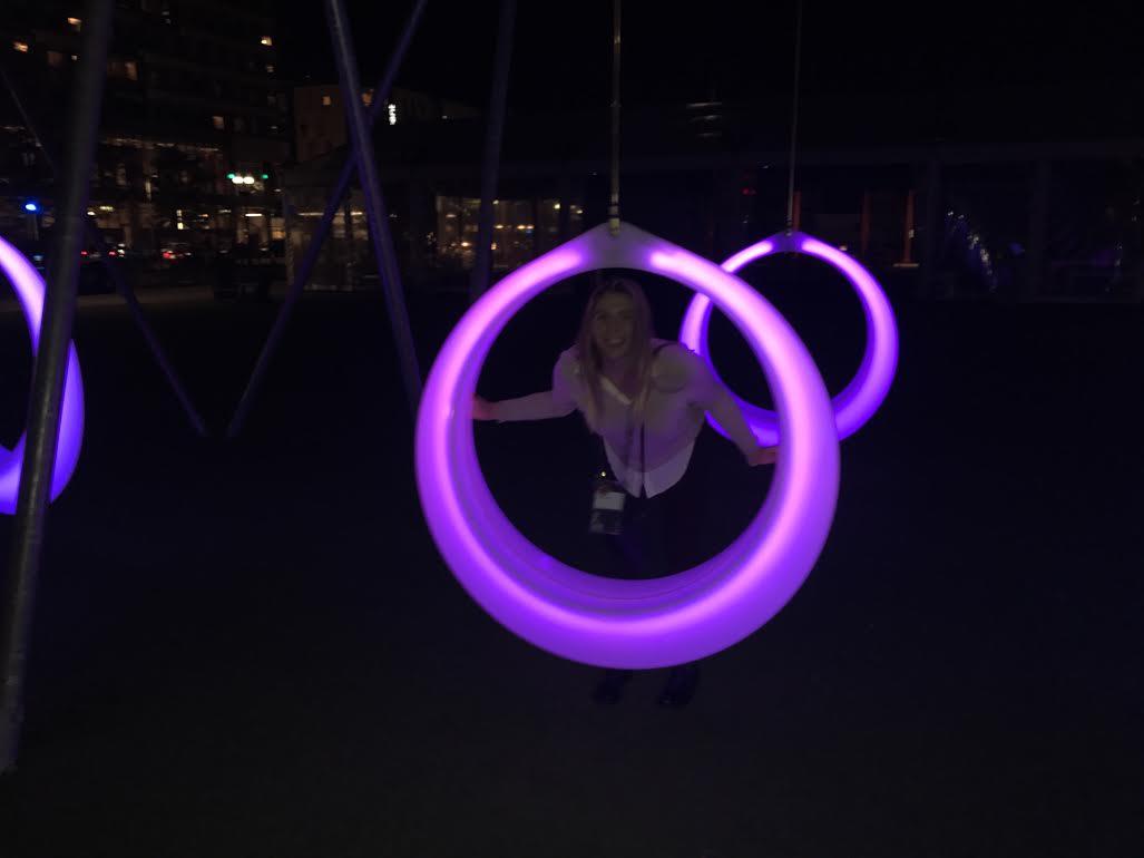 Kate at swing