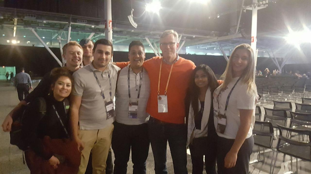 Students with Brian Halligan, CEO HubSpot